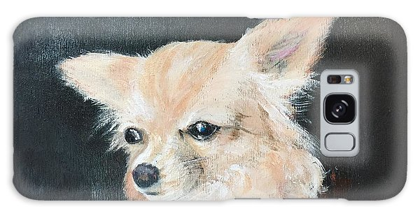 Galaxy Case featuring the painting Foxy Lady  by Bonnie Heather