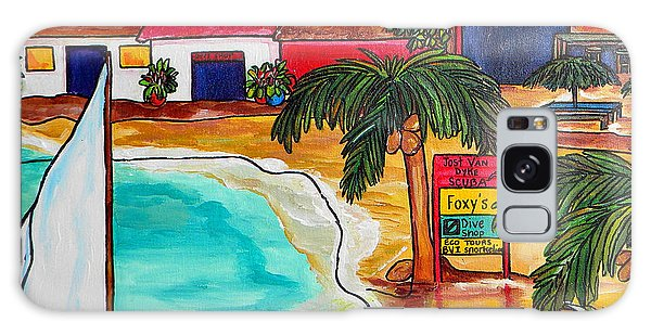 Foxy's At Jost Van Dyke Galaxy Case by Patti Schermerhorn