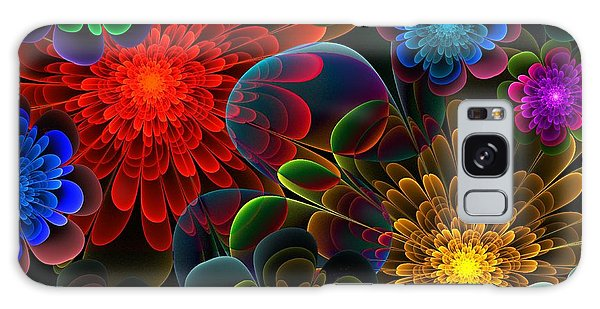 Fractal Bouquet Galaxy Case by Lyle Hatch