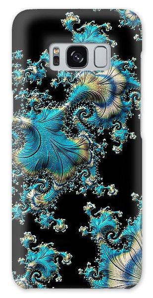 Fractal Filigree Blue Galaxy Case
