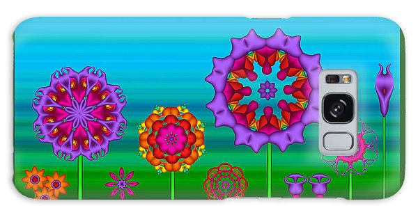 Whimsical Fractal Flower Garden Galaxy Case