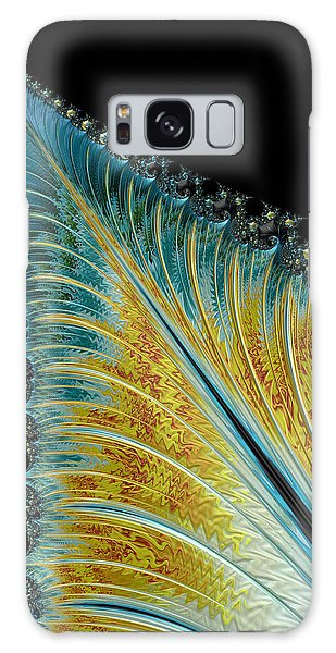 Galaxy Case featuring the digital art Fractal Leaf by Bill Barber