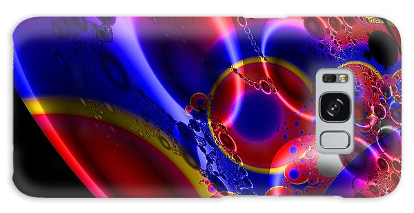 Fractal Luminescent Coloured Moon Galaxy Case
