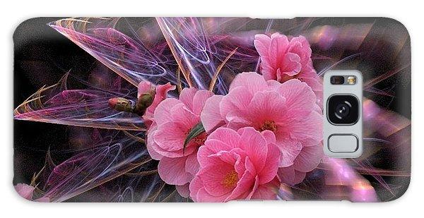 Fractal Meets Camellia  Galaxy Case