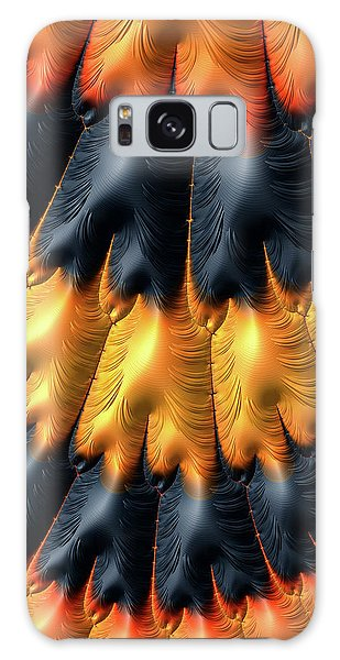 Galaxy Case featuring the digital art Fractal Pattern Orange And Black by Matthias Hauser