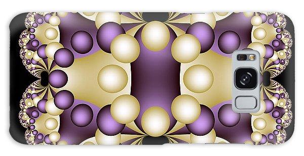 Galaxy Case featuring the digital art Fractal Pearls by Sandra Bauser Digital Art
