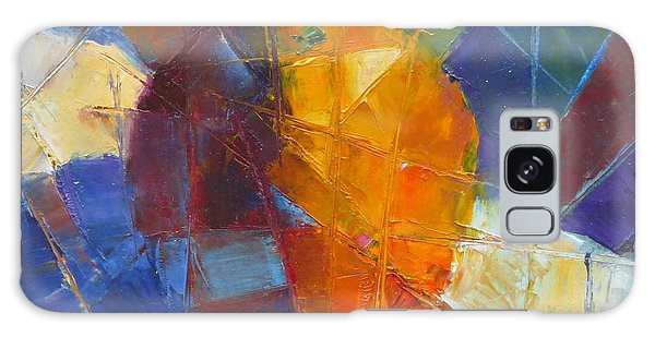 Fractured Orange Galaxy Case by Susan Woodward