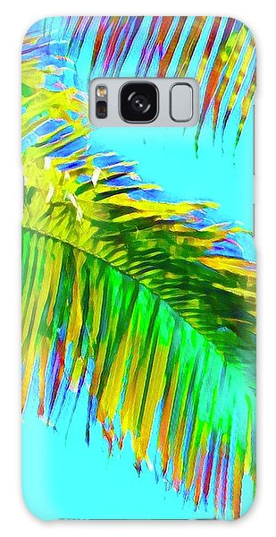 Fragment Of Coconut Palm Psychedelic Galaxy Case