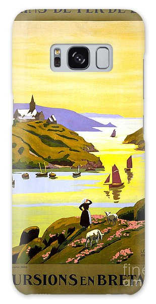 France Bretagne Vintage Travel Poster Restored Galaxy Case