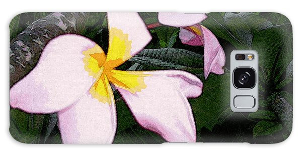 Galaxy Case featuring the digital art Frangipani Moment by Winsome Gunning
