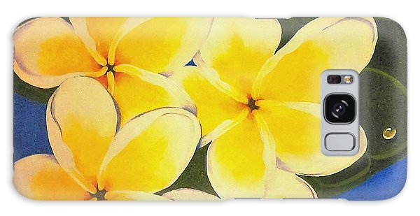 Frangipani With Lady Bug Galaxy Case