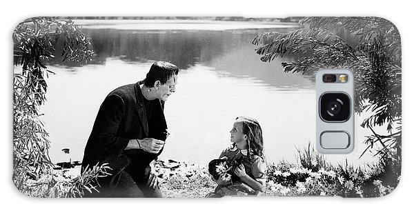 Frankenstein By The Lake With Little Girl Boris Karloff Galaxy Case