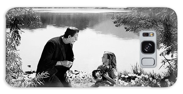 Frankenstein By The Lake With Little Girl Boris Karoff Galaxy Case