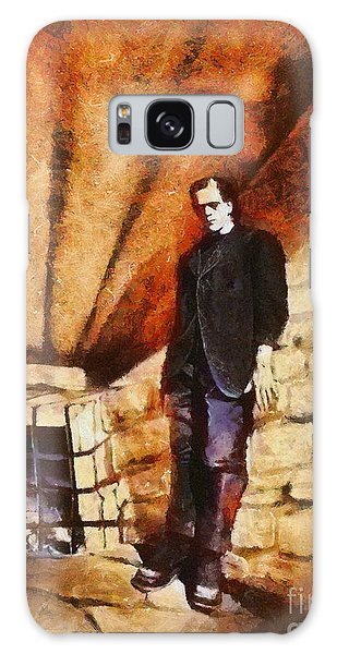 Dracula Galaxy Case - Frankenstein, Classic Vintage Horror by Esoterica Art Agency