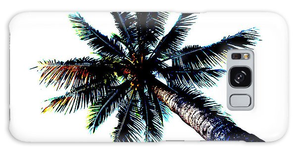 Frazzled Palm Tree Galaxy Case