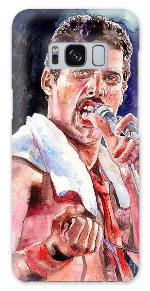 Mercury Galaxy Case - Freddie Mercury Singing by Suzann Sines