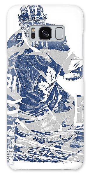 Frederik Andersen Toronto Maple Leafs Pixel Art 1 Galaxy Case