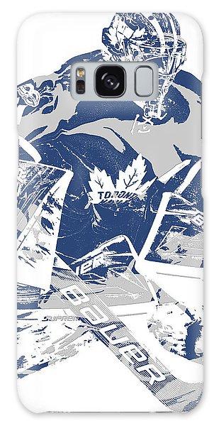 Maple Leaf Art Galaxy Case - Frederik Andersen Toronto Maple Leafs Pixel Art 2 by Joe Hamilton