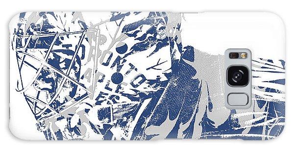 Maple Leaf Art Galaxy Case - Frederik Andersen Toronto Maple Leafs Pixel Art 3 by Joe Hamilton