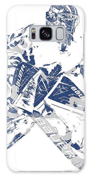 Frederik Andersen Toronto Maple Leafs Pixel Art 4 Galaxy Case