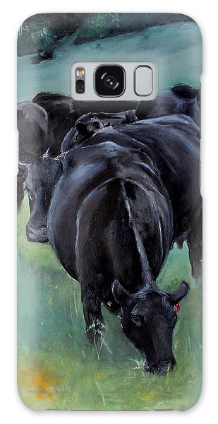 Free Range Cow Girls Galaxy Case by Michele Carter