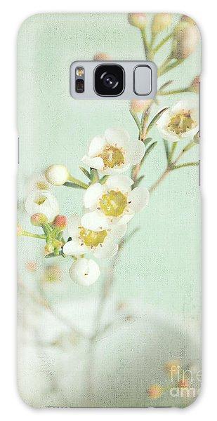 Freesia Blossom Galaxy Case by Lyn Randle