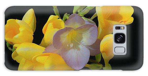 Freesias Softened 9 Galaxy Case