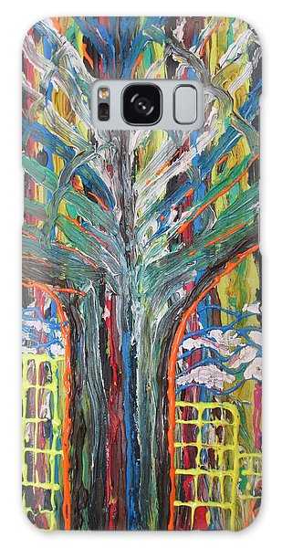 Freetown Cotton Tree - Abstract Impression Galaxy Case by Mudiama Kammoh