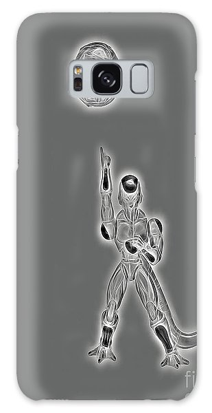 Galaxy Case featuring the digital art Freeza Black And White by Ray Shiu