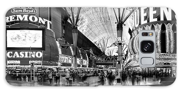 Hallway Galaxy Case - Fremont Street Casinos Bw by Az Jackson
