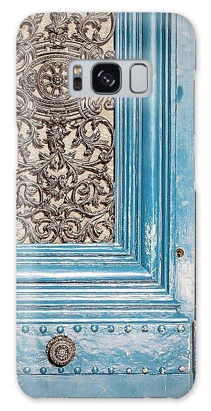 French Blue - Paris Door Galaxy Case by Melanie Alexandra Price