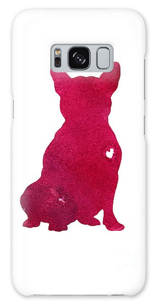 Raspberry Galaxy S8 Case - French Bulldog, Abstract Dog Art Print, Kids Wall Decor, Pink Watercolor Painting, Dog Art Print by Joanna Szmerdt
