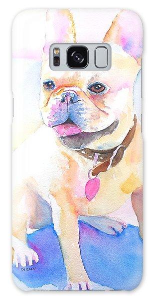 Watercolor Pet Portraits Galaxy Case - French Bulldog Watercolor by Carlin Blahnik CarlinArtWatercolor