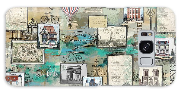Hot Air Balloons Galaxy Case - French Collage-a by Jean Plout