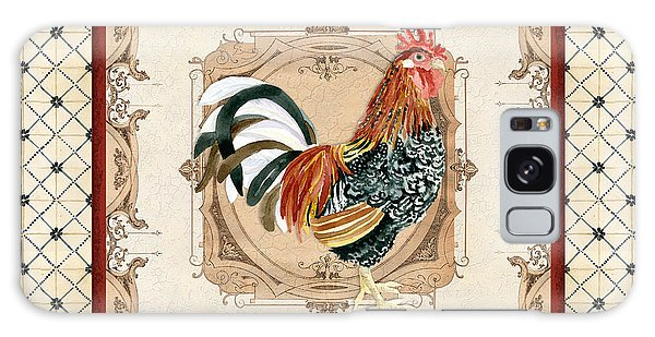Country Living Galaxy Case - French Country Roosters Quartet Cream 1 by Audrey Jeanne Roberts