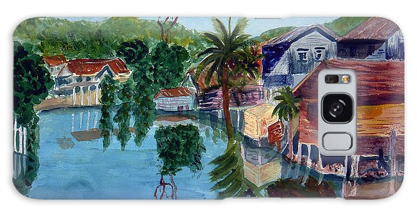 French Harbor Isla De Roatan Galaxy Case by Donna Walsh