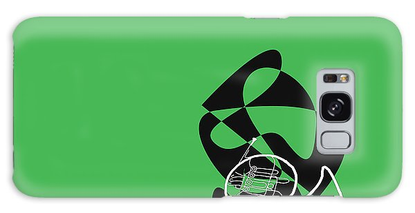 French Horn In Green Galaxy Case