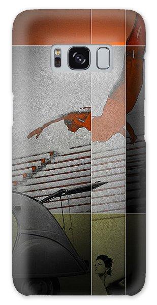 Swimming Galaxy Case - French Kiss by Naxart Studio