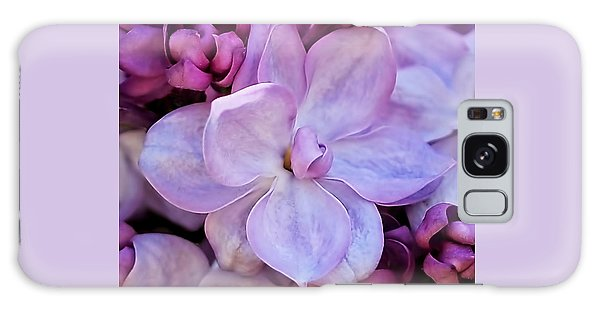 French Lilac Flower Galaxy Case