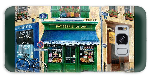 Notre Dame Galaxy Case - French Pastry Shop by Marilyn Dunlap