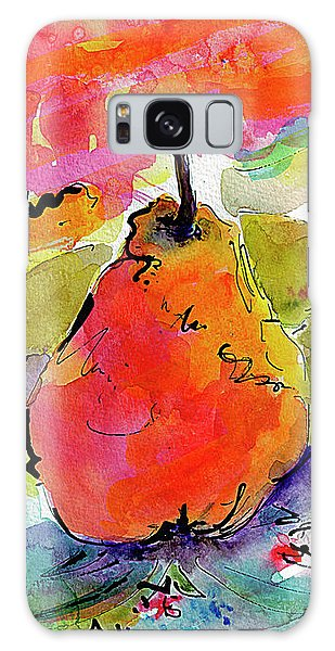French Pears Watercolor And Ink Whimsical Art Galaxy Case by Ginette Callaway