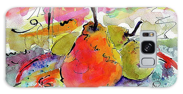 French Pears Watercolor And Ink Whimsical Art Galaxy Case