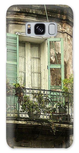 French Quarter Balcony Galaxy Case