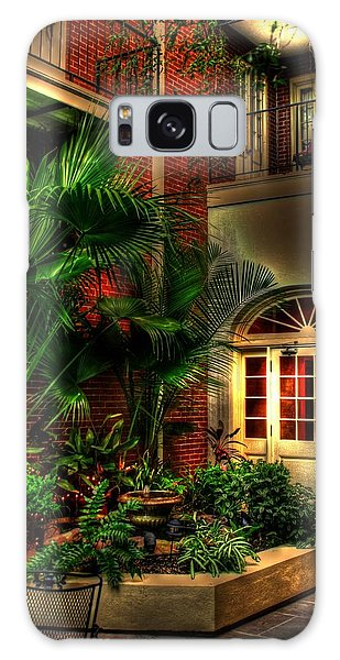 French Quarter Courtyard Galaxy Case