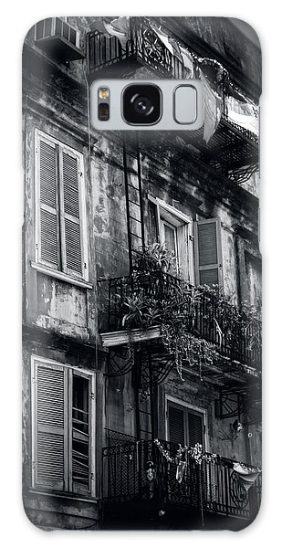 French Quarter Shutters And Balconies In Black And White Galaxy Case