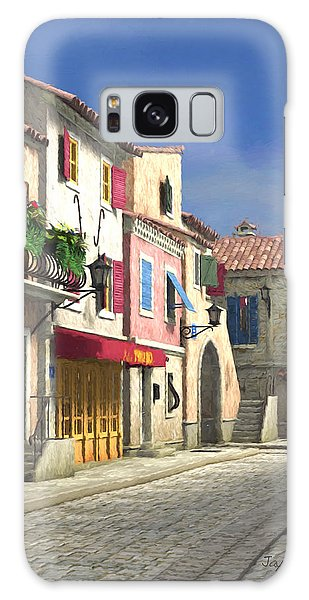 French Village Scene With Cobblestone Street Galaxy Case by Jayne Wilson