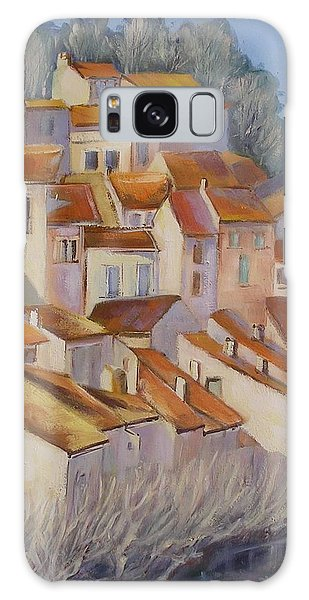 French Villlage Painting Galaxy Case