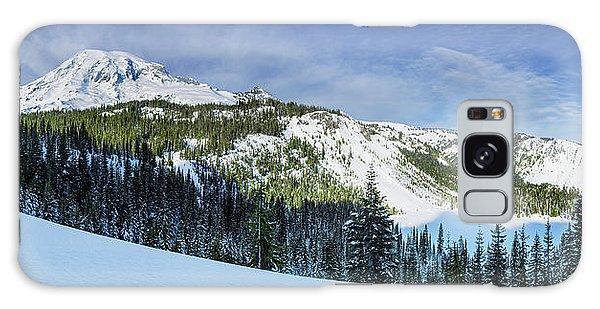 Galaxy Case featuring the photograph Fresh Snow At Mount Rainier by Dan Mihai