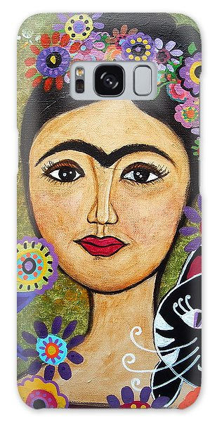 Frida Kahlo And Cat Galaxy Case
