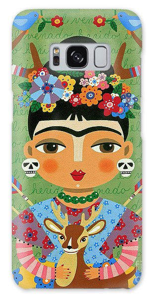 Galaxy Case Featuring The Painting Frida Kahlo With Antlers And Deer By LuLu Mypinkturtle